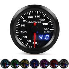 "2"" 52mm Digital&Pointer 7 Color LED Oil Temp Gauge Oil Temperature Meter+Sensor"
