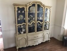 French Provincial China Cabinet Mount Airy Furniture Company Buffet Dining Room