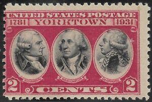 703 2 cent Yorktown with Vignette Shift