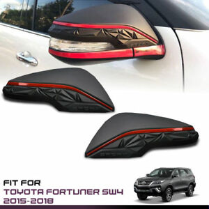 TFP MIRROR COVER SPORT MATTE BLACK FOR NEW TOYOTA HILUX FORTUNER SUV 15-16-17-19