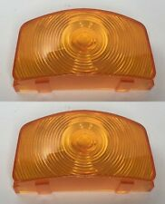 Pair (2) Amber Parking Light Lens for 1955-1956 Ford F-100 F-250 F-350 Pickup