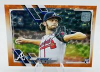 2021 Topps Ian Anderson RC Rookie Orange Ice Foil #256/299 - Braves