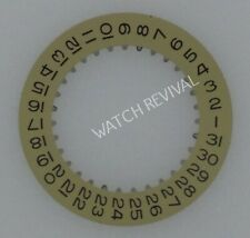 GENERIC GOLD DATE DISK WHEEL FOR ROLEX 3135/3155 MOVEMENT DATEJUST SUBMARINER