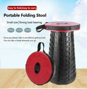 Outdoor Retractable Stool Folding Chair Portable Camping Hiking Fishing BBQ Seat