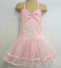 Fairy Dress Ballet Tutu Dance Costume Pink 4-6 Years Polyester Stretch Leotard