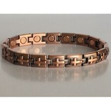 CROSS COPPER HIGH POWER MAGNETIC BRACELET  BRAND NEW MAGNET IN EVERY LINK 5374