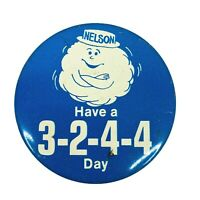 Vintage 1970s Food Pyramid Nutrition Nelson Cloud Have A 3244 Day Pinback Button