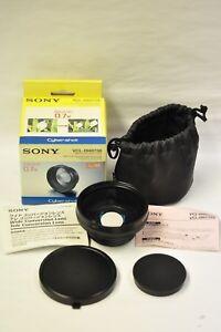 Sony VCL-DH0758 Wide Conversion Lens 0.7X 58mm w/box, caps, case & inst. NOS