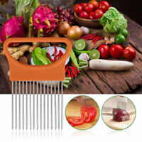 Stainless Steel Onion Tomato Slicer Fruit Vegetable Slicing Cutter Kitchen Tool