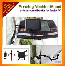 Running Machine Mount fixing by clamp+Universal Holder for iPad, Galaxy Note10.1