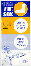 1962 Chicago White Sox Spring Training Roster & Schedule (Media Guide) Original!