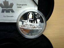 2000 Canada $20 Toronto Locomotive Silver Coin