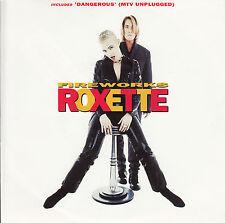 "ROXETTE Fireworks 7"" 45 rpm vinyl record + juke box title strip"