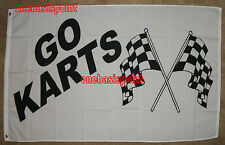 3'X5' Go Karts Flag Auto Racing Black & White Checkered Finish Line Car Race 3X5
