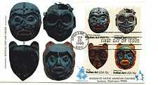 1834-37 Indian Masks Andrews block of 4 FDC