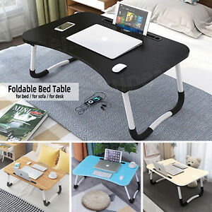 Laptop Table Stand Folding Study Computer Desk Bed Sofa Breakfast Coffee Tray UK