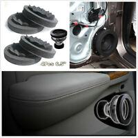 4Pcs 6.5'' Car Door Speaker Ring Soundproof Cotton Speaker Audio Insulation Ring