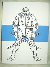Canvas Painting Ninja Turtles Leonardo Stripe Blue Art 16x12 inch Acrylic