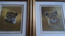 Stephen Gayford Cheetah Cub & Lion Cub Pair Limited Edition Prints