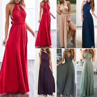 Ladies Summer Beach Long MAXI Dress Ball Prom Gown Cocktail Evening Party Womens