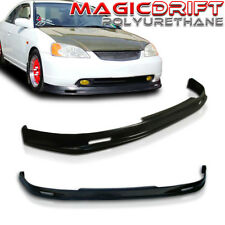 NEW MU MUGN Front Bumper Lip Urethane Plastic for 01-03 Honda Civic 2DR Coupe