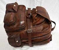 Bag Backpack Leather Men Travel Satchel Rucksack School Shoulder Laptop Vintage