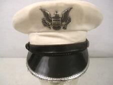 Vietnam US Air Force USAF Officer Cadet Uniform Visor Service Cap - Size 6 7/8