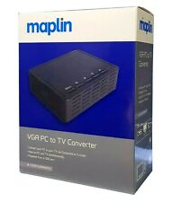 Maplin PC To TV VGA To AV Composite S-Video Converter with all necessary cables