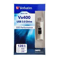 ($0 P&H) VERBATIM 47690 Store n Go VX400 SOLID STATE USB 3 DRIVE 128GB