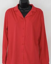 Vintage Womens Sears The Shirt Red Button Front Shirt Size 14 NEW