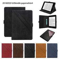 Titular de la tarjeta inteligente Ranura De pie Abatible Estuche Cubierta para Amazon Kindle Paperwhite 4 2018