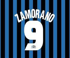 Zamorano 9 Inter Milan 1997-1998 Home Football Nameset for shirt