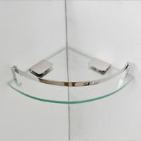 6mm Wall Mounted Tempered Glass Corner Shelf Bathroom Shower Mini Shelf Decor