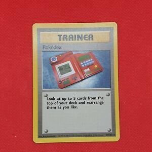 Pokedex 87/102 Base Set Rare Trainer WOTC Pokemon Card Excellent Near Mint