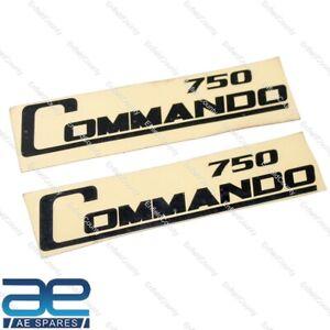 NORTON COMMANDO 750 SIDE PANEL COVER STICKER DECAL SET BLACK 150x28mm ECs