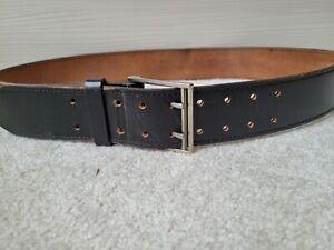 Womens Plain Black Leather Belt Regular Size Medium
