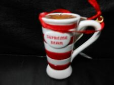 "Hallmark Direct Imports ""Supreme Bean Coffee Mug"" 2015 Ornament NEW with Tags"
