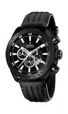 Festina Herrenuhr Uhr Chronograph Special Edition Schwarz Sport Leder F16901/1