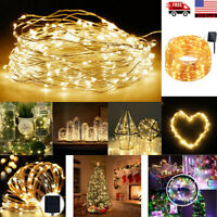 22M 200 LED Solar Powered Copper Wire Fairy String Light Christmas Xmas Party