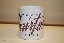 1988 Macy's Retail Department Store Christmas Holiday Coffee Mug B12