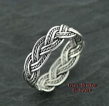 Ring Keltisch Zopf Celtic Silberring Gothic Silber 925 Fingerring Zopfring