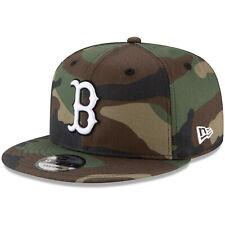 Boston Red Sox B New Era 9FIFTY MLB Adjustable Snapback Hat Cap Flat Brim Camo