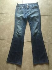 7 For ALL Of MANKIND 'A Pocket' Blue JEANS  Women Sz 28
