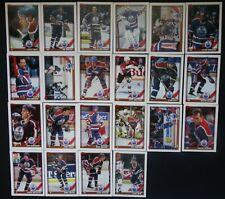 1991-92 Topps Edmonton Oilers Team Set of 22 Hockey Cards