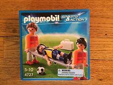 playmobil 4727 field medics mit akteur auf keilrahmen für soccer series new in box!