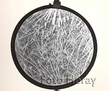 Falt-Reflektor 2 in 1 Durchmesser 54,5cm Weiß/Silber. 03458
