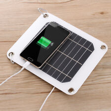 5V 5W Solar Panel USB Charger Portable Power Bank Camping For iPhone Samgsung