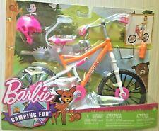 Barbie CAMPING FUN BIKE + Helmet, Water Bottle, Sunglasses & more NEW