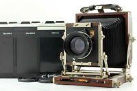 【N.MINT】 Horseman Woodman 45 w/ Symmar-S 180mm f5.6 + 4x5 Cut Film Holders JAPAN