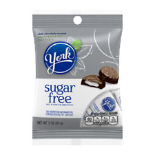 YORK PEPPERMINT PATTIES SUGAR FREE CHOCOLATE CANDY - 3oz. - PACK OF 8